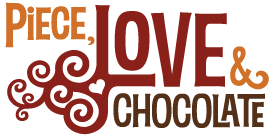 Piece, Love & Chocolate Logo - Flat